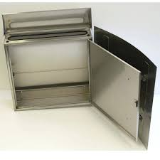 modern stainless steel mailbox curb appeal locking wall mount mailbox modern