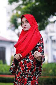 hijab, moslem, female, portrait, girl ...