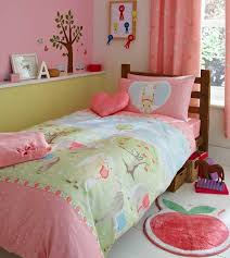 girls pony single duvet cover bed set or curtains pink polka dot