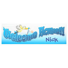 Welcome Home Baby Boy Banner Add Your Own Welcome Home Banner Blue