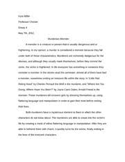 "essay outline ""a good man is hard to find"" o connor  6 pages essay 4 draft 1 murderous monster"