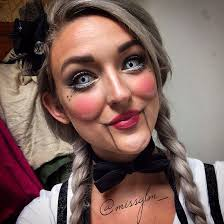 2016 creepy ventriloquist doll makeup by missglm