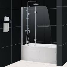 aqua tub door frosted glass bathtub door dreamline frameless tub
