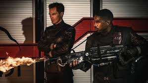 michael b jordan plays the fireman guy mon a man whose job it is to burn books in the world of fahrenheit 451 firemen don t put out fires