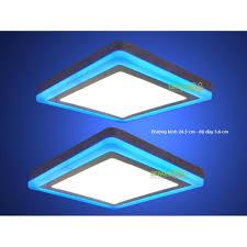 Bán Trang bán Bộ 2 đèn led nổi ốp trần 24w vuông 2 màu 3 chế độ ánh sáng  trắng xanh dương giá chỉ 320.000₫