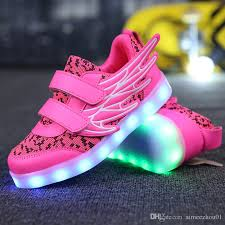 new usb charging shoes s led luminous light up shoes children kids sneakers men wings woman breathable athletic s shoes boys kids track spikes kids