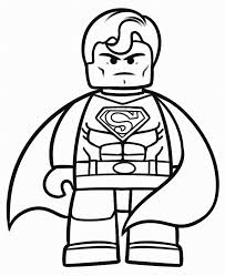 Lego Superman Coloring Pages To Print