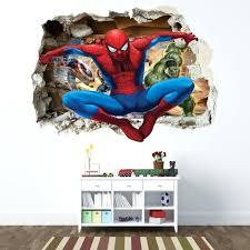 5 gallery the most brilliant and also beautiful wall stickers marvel comic superhero decals for aspiration wall stickers