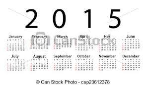 Simple 2015 Calendar Simple 2015 Year Vector Calendar