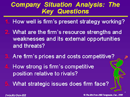 Situational Analysis Questions Company Situation Analysis The Key Questions
