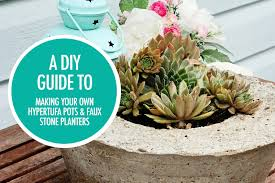 how to make hypertufa pots and faux stone planters food bloggers of canada
