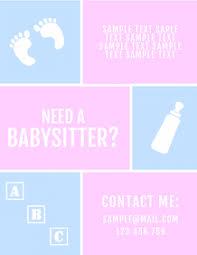 Babysitting Flyer Template 190 Babysitting Customizable Design Templates Postermywall