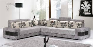 fabric sofa designs architecture modern grey cream fl pattern contemporary l shaped design is in house