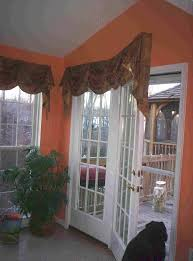 Empire Valance over French Door in Morning Room