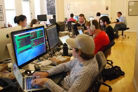 software company office. Most Of Tech Startup Ordr.in\u0027s Employees Work In The Same Office, Alongside Contractors And Interns. Right Software Keeps Remote Staff Loop Company Office E