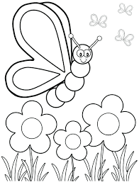 Color Page For Kids Spring Coloring Page Flower Color Pages Kids