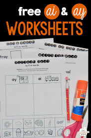 Printable phonics worksheets for kids. Worksheets For Ai Ay Words The Measured Mom