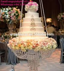new s hanging cake stands wedding acrylic crystal chandelier stand for big diy