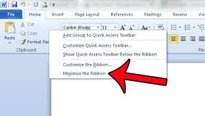 Word Ribbon How To Hide The Ribbon In Word 2010 Solve Your Tech