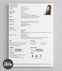 Free Resume Template with Cover Letter   Portfolio