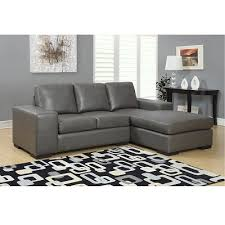 modern sectional sofas. Unique Sofas Jacob Condo Sized Bonded Leather Sectional Sofa  Grey In Modern Sofas N