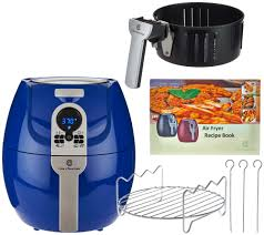 Essential Kitchen Appliances Cooksessentials 1500w Digital Air Fryer With Presets Grill Rack