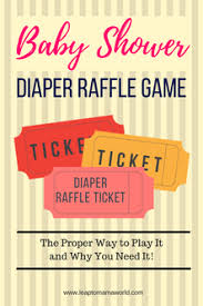 Raffle Event Baby Shower Diaper Raffle Game The Proper Way To Play And Why You