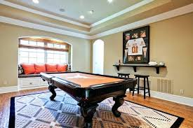 pool table rugs for rug interesting dishy cost family room traditional with dark wood arched red pool table with rug