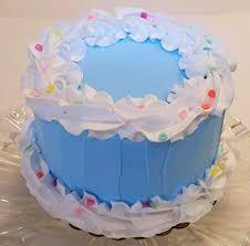 Amazoncom Dezicakes Fake Cake 6 Blue Birthday Cake Faux Cake