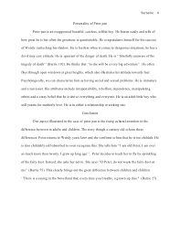 mla style essay mortality essay 4 sur 4 personality of peter pan