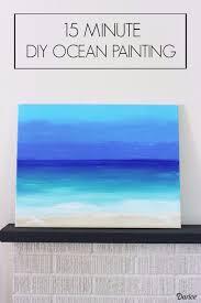 15 minute diy ocean painting
