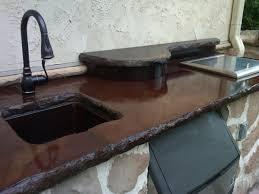 outdoor concrete countertops with undermount sink massillon ohio