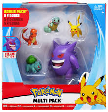 Pokemon Gengar, Bulbasaur, Charmander, Squirtle Pikachu Exclusive 3 Multi  Figure 5-Pack Wicked Cool Toys - ToyWiz
