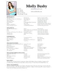 Theater Resume Template Microsoft Word Musical Theatre Acting Free ...