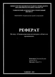 РЕФЕРАТ На тему Специальные виды штукатурки и область их  Транскрипт