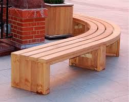 Portrayal of Curved Wooden Bench for Garden and Patio