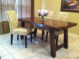 pottery barn dining room brown leather upholstered chairs benchwright extending table white table cloth round plates home improvement and interior