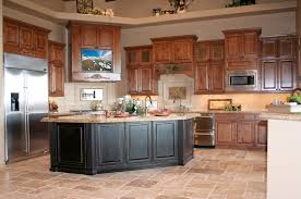 Kitchen Furniture Furniture Wonderful Wooden Kitchen Cabinet Beige Stone Tiled