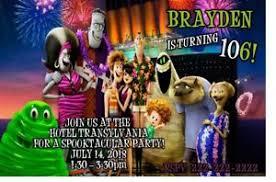 Details About Hotel Transylvania 3 Birthday Party Invitation Printable