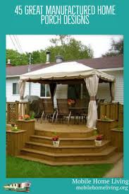 Deck Designs For Manufactured Homes Get Porch And Deck Ideas For Your Mobile And Manufactured