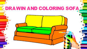 Learn How To Draw And Spray Paint Sofa Coloring Pages Teaching