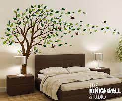 bedroom wall design. Blowing Tree Wall Decal, Bedroom Decals Sticker Vinyl Art , Design KK128 N