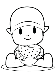 Small Picture Super Pocoyo Coloring Pages And Friends Laughing Hard Page Color