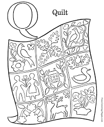 Small Picture coloring pictures Q is for Quilt