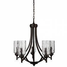 allen roth latchbury 23 73 in 5 light aged bronze craftsman intended for allen
