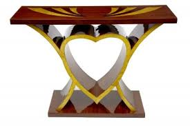 vintage art deco furniture. art deco inlay heart console table vintage interiors furniture