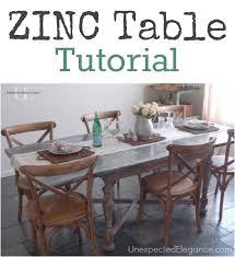 zinc table tutorial jpg