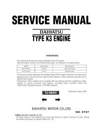 2006 Daihatsu Terios Engine Service Manual
