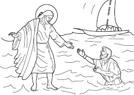 jesus walks on water coloring page. Wonderful Page Peter Walks On Water Coloring Page Fresh  Valid Jesus Miracles Inside I