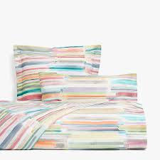 multicolor fl print percale bedding